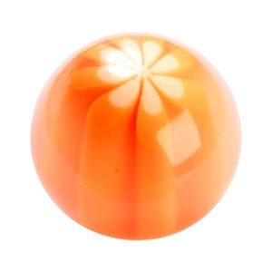 orange methacrylate handle knob 656na
