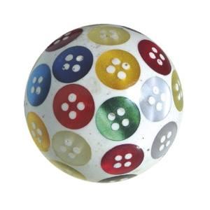 pomos tiradores bola resina con botones incrustados de nacar mueble 660a1