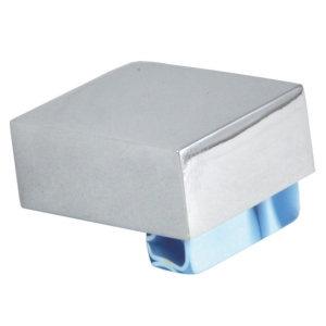 pomos tiradores metacrilato azul con metal cromo puerta mueble 469 670azx