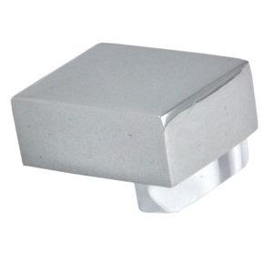 pomos tiradores metacrilato blanco con metal cromo puerta mueble 670blx