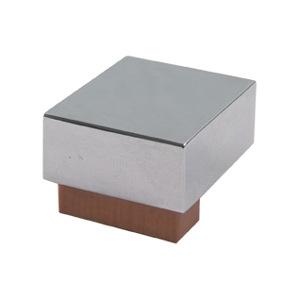 pomos tiradores madera haya laca miel con metal cromo puerta mueble 44 670hm7
