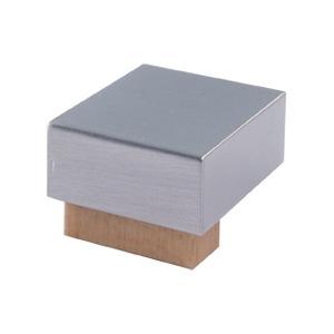 poignee bouton carre en bois chrome mat pin naturel meuble acrylique 670hn7