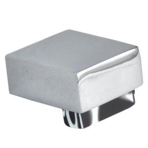 pomos tiradores metacrilato negro con metal cromo puerta mueble 670nex