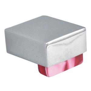 pomos tiradores metacrilato rojo con metal cromo puerta mueble 483 670rjx