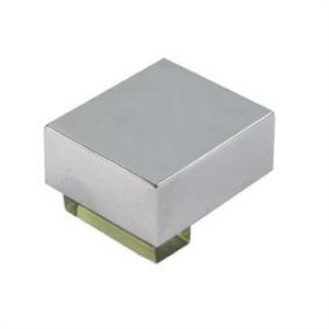 pomos tiradores metacrilato verde con metal cromo puerta mueble 487 670ve1