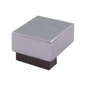 poignee bouton carre en bois chrome mat wenge meuble acrylique 670we7