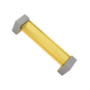 bright yellow methacrylate handle with bright chrome fitting furniture handle 143 671am1