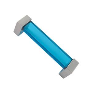 asa tiradores metacrilato azul con metal cromo puerta mueble 49 671az1