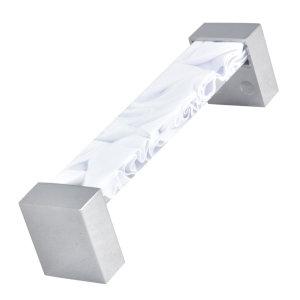 asa tiradores metacrilato blanco con metal cromo puerta mueble 54 671blx