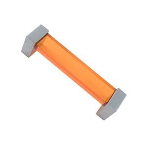 asa tiradores metacrilato naranja con metal cromo puerta mueble 69 671na1