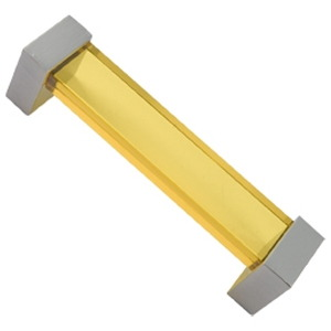 bright yellow methacrylate handle with bright chrome fitting furniture handle 672am1