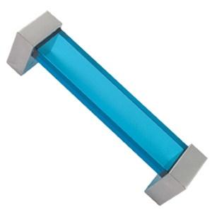 asa tiradores metacrilato azul con metal cromo puerta mueble 51 672az1