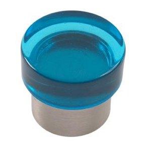 blue bright methacrylate with bright chrome bathroom furniture handle 673az1