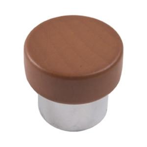 poignee bouton en bois chrome mat miel meuble acrylique 673hm7