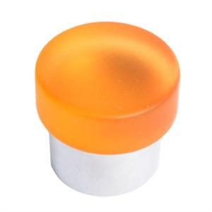 pomo tirador metacrilato naranja mate con cromo mate 673na7