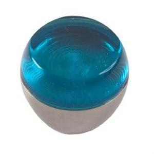 pomos tiradores metacrilato azul con metal cromo puerta mueble 471 674az1
