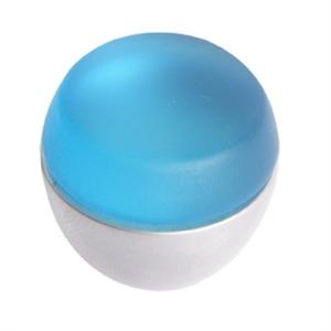 pomo tirador metacrilato azul mate con cromo mate 674az7