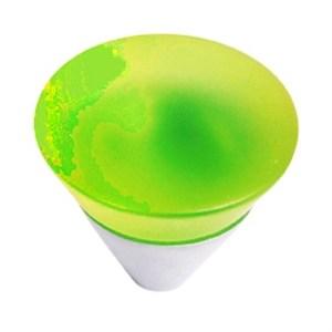 pomo tirador metacrilato verde mate con cromo mate 31mm 675ve7
