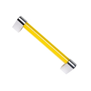 yellow bright methacrylate with bright chrome furniture handle 616 676am1