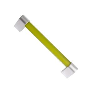 pomo tirador metacrilato verde mate con cromo mate 96mm 676ve7