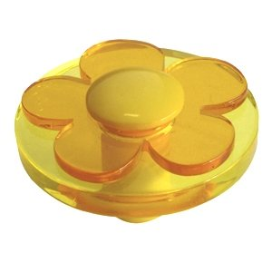 round knob with yellow flower methacrylate kids children furniture handle 679am