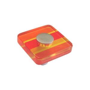 pomos tiradores metacrilato rayas naranja y cromo mueble juvenil 695na