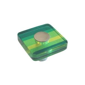 poignee bouton vert meuble acrylique 695ve
