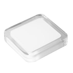 tirador pomo metacrilato con resina blanca herrajes mueble diseño moderno n609
