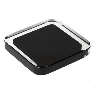 tirador pomo metacrilato con resina negra herrajes mueble diseño moderno n612
