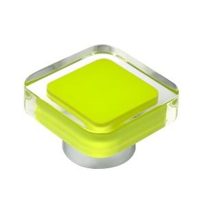 tirador pomo de mueble metacrilato con resina blanca base cromo diseno moderno 697ve
