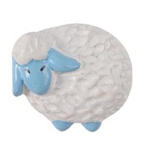 pomos tiradores oveja blaco azul resina mueble infantiles ninos 706r1