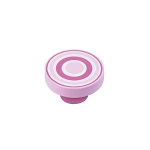 pomo abs circulos rosa magenta tirador mueble infantil juvenil 7254mr