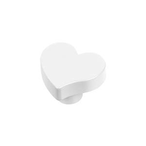 pomo corazon abs blanco tirador mueble bebe infantil 7274bl