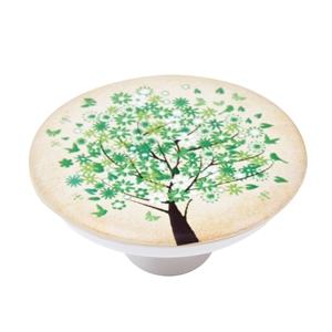 pomo abs con serigrafia arbol verde para mueble infantil ap1099