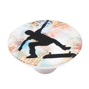 pomo abs con serigrafia skate para mueble infantil ap1141