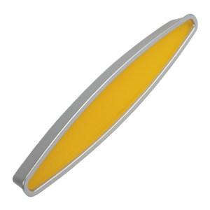 tirador asa de mueble abs pintado cromo mate amarillo diseno juvenil 766am