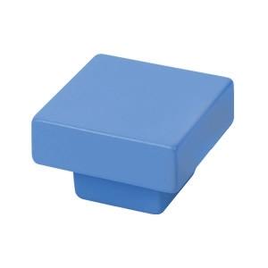 bouton de meuble abs 30x30 mm teint bleu design jeunesse 771az