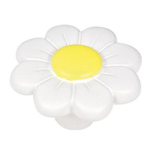 tirador pomo de mueble flor resina blanca puerta armario cocina 781bl