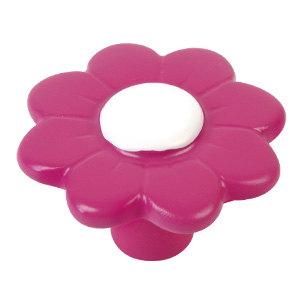 resine rose fleur bouton de meuble 781mg