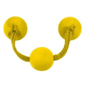 tirador pomo de mueble goma amarillo 7946am