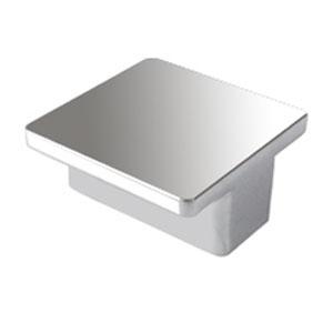 squared handle ext. chrome furniture cabinet modern design n114