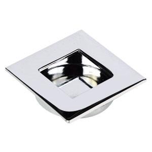 tirador embutir acabado cromo brillo puerta armario cocina 865501