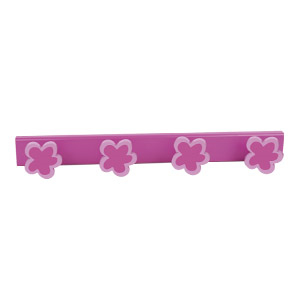 wall hangerhooks magenta flower lilacbase coat hook rack n508
