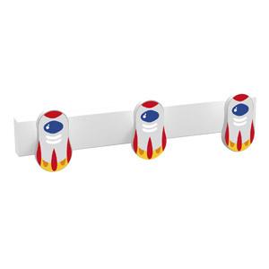 percha 3 pomo de muebles nave espacial diseno infantil ninos 9006cbl