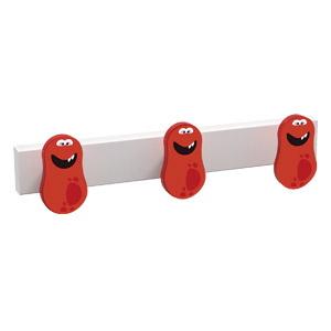percha 3 pomo de muebles extraterrestre rojo diseno infantil ninos 9006gbl
