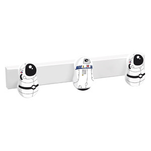 percha 3 pomo de muebles astronauta robot diseno infantil ninos 9006qbl