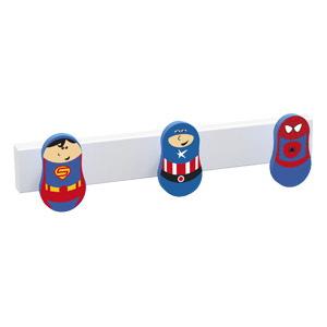 percha 3 pomo de muebles superheroes diseno infantil ninos 9006tbl