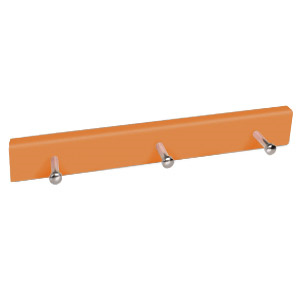 percha madera pomos base naranja 9007na
