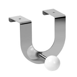 perchas sobre puerta de metal con bola porcelana blanca percheros 901bl