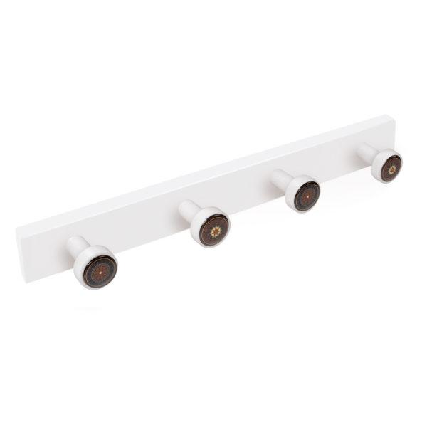 percha pomos madera lacada blanca pomos arabescos perchero diseno retro mueble vintage 9027bl